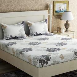 Zesture 144 TC Cotton Double Floral Bedsheet (1 Double Bedsheet, 2 Pillow Covers, Multicolor)