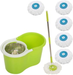 V-Mop CLASSIC THUNDER MOP WITH 5 MICRO FIBERS((( COLOUR MAY VARY AS PER AVAILABLTY))) Mop Set