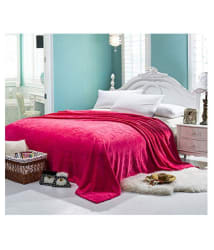 Winter Bliss Double Poly Mink Abstract Blanket