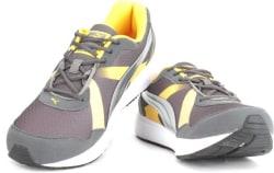 Puma Propeller DP Men Running Shoes For Men (Brown, Grey, Yellow)