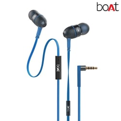 Boat BassHeads 225 Special Edition in-Ear Headphones with Mic (Blue)