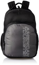 American Tourister Unisex 27 Ltrs Black Casual Backpack (AMT Stratos BP-01 Black/Grey)