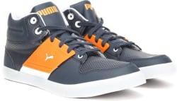 Puma El Ace 2 PN II DP Mid Ankle Sneakers For Men (Blue, Navy)