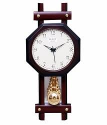 Ravishing Plaza Pendulum Hexa Wall Clock