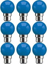 Syska Led Lights 0.5 W B22 LED Bulb (Blue, Pack of 9)