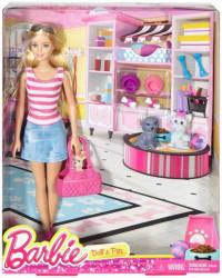 Barbie Dolls and Pets set (Multicolor)