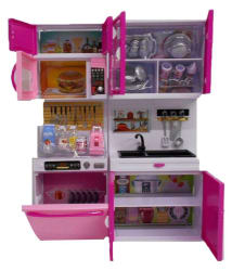 DWIZA Modern Kitchen Playset with Light and Real Sound Effect
