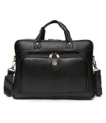 Hammonds Flycatcher Urban Hill Black Genuine Leather Office Bag