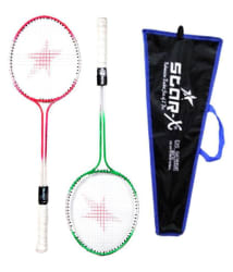 Starx Combo of 2 Strung Badminton Rackets with Cover