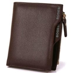 Bogesi PU Leather Bifold Wallet Credit Card Holder for Men s (Brown)