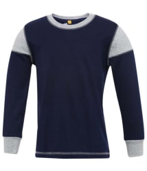 instaFab Navy and Gray Cotton T-shirt
