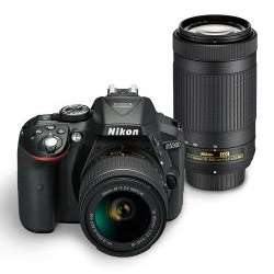 Nikon D5300 (with AF-P DX NIKKOR 18-55mm + AF-P DX NIKKOR 70-300mm) DSLR Camera (Black)