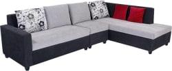Bharat Lifestyle Nano Fabric 6 Seater Sofa (Finish Color - Black Grey)