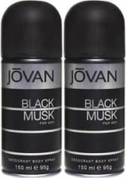 Jovan Black Musk Deodorants For Men (300 ml, Pack of 2)