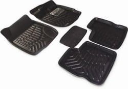 3D Foot Mats car mats Black Color for Hyundai i10 Grand fitting (5 Pcs)
