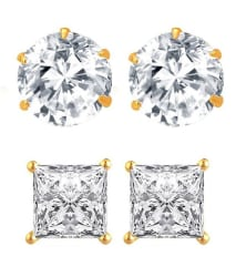 Jewels Galaxy Combo Of American Diamond Solitaire Studs