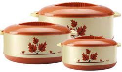 Milton Orchid Junior Set Pack of 3 Casserole Set (450 ml, 790 ml, 1260 ml)