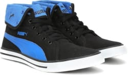Puma Carme Mid IDP Mid Ankle Sneakers For Men (Black, Blue)