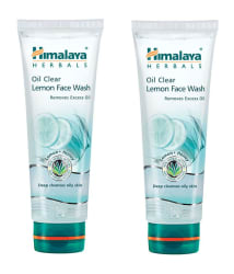 Himalaya Oil Clear Lemon Face Wash 150 ml Each (Pack of 2)