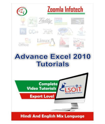 Excel Advance + Excel Tips and Tricks + MS Excel 2010 Video Tutorials by Zoomla Infotech (Hindi-English Mix Language DVD)