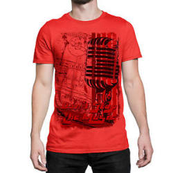 Designer Don t Stop The Music Printed T Shirts For Men Graphic Tee