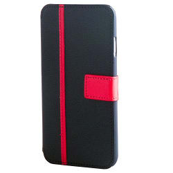 Credo Apple iPhone 6/6s Smart Professional Look Back Stand Case with Flip Cover Case (Black & Red)