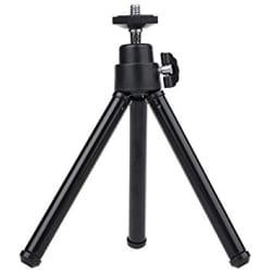 mStick Black Mini Tripod Aluminum Metal Lightweight Tripod Stand For Point & Shoot Camera, Smartphones Etc.