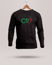 RSO Mens Branded CR7 Ronaldo Printed T-Shirt Full Sleeve Round Neck Cotton