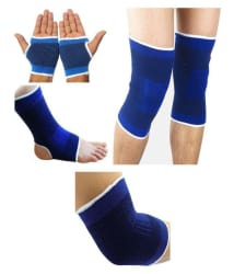 New Life Combo of Palm, Ankle, Elbow & Knee Support/Gym Accessories Free Size