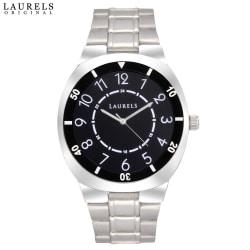 Laurels Polo 3 Analog Black Dial Men s Watch-Lo-Polo-302, silver, black