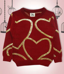 Yellow Apple Red Acrylic Pullover