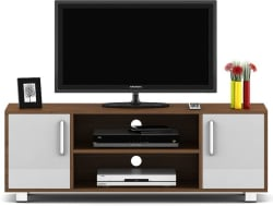 Spacewood Modern Engineered Wood TV Entertainment Unit (Finish Color - Brown)