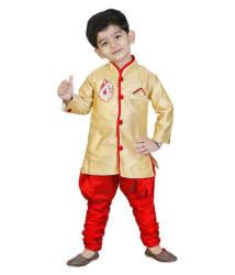Generation Next Gold Indowestern Sets for Boys