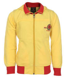 Haig-Dot Yellow Fleece Hooded Jacket For Boys