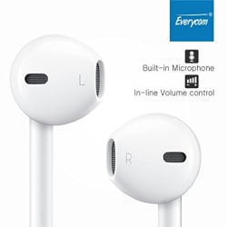 Everycom 3.5mm Jack With Mic Earphones - Black