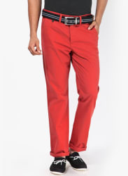 Rust Slim Fit Chinos
