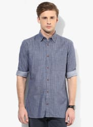 Light Blue Slim Fit Casual Shirt