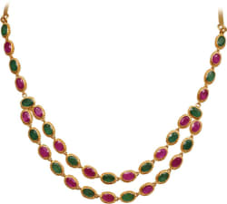 Joyalukkas EPN014615 Princess Yellow Gold Precious Necklace (22kt Yellow Gold Plated)