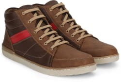 Vulcan Knight Mid Ankle Sneakers For Men (Brown)