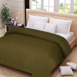IWS Plain Double Blanket (Fleece, Multicolor)