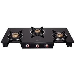 Elica Glass 3 Burner Gas Stove (SPACE ICT 773 BLK)