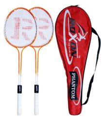 Roxon Phantom Badminton Racket Assorted Set of 2 with Badminton Cover Assorted Color