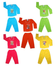 Awesome Kidz Comfortable Multicolour Pack of 10 Cotton (Printed 5 Tshirt and 5 Pant)