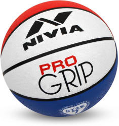 Nivia Pro Grip Basketball - Size: 7 (Pack of 1, Red, Blue, White)