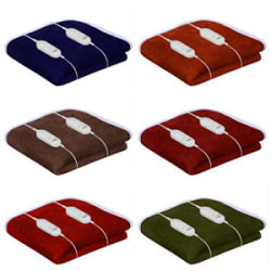 100% Shock Proof Electric Blanket Single Bed -Double Bed Warmer ,6 Colors Ops