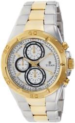 Titan Regalia Chronograph Analog Silver Dial Men s Watch -NK9308BM01