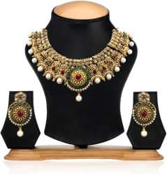 Zaveri Pearls Zinc Jewel Set (Multicolor)