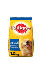 Pedigree Dry Dog Food Chicken & Vegetables For Adult Dogs 1.2 kg Pack
