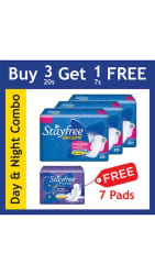 Stayfree Day & Night Combo-Pack of 4 (67 Pads)