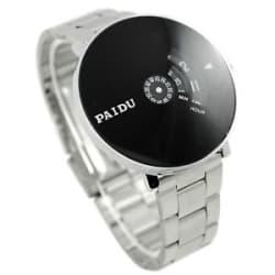 2016 new Unique Design Black Color Dial Steel Strap Mens Wrist Watch ....